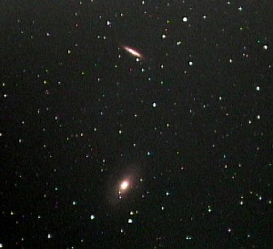M81 (bottom) and M82 in Ursa Major.