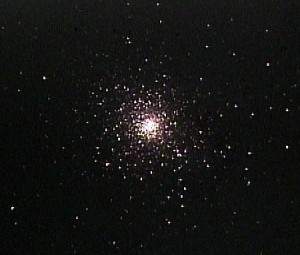 "M5 as it appears visually in an 8"" to 10"" telescope"