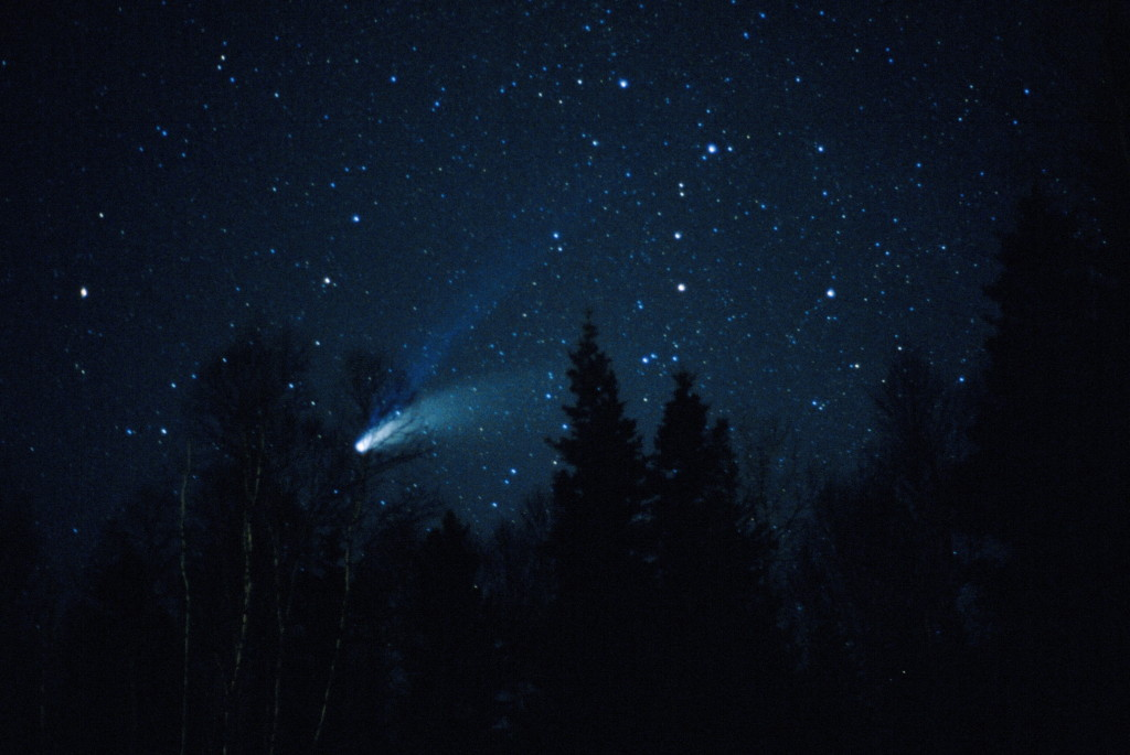 Comet Hale-Bopp as seen in March 1997.